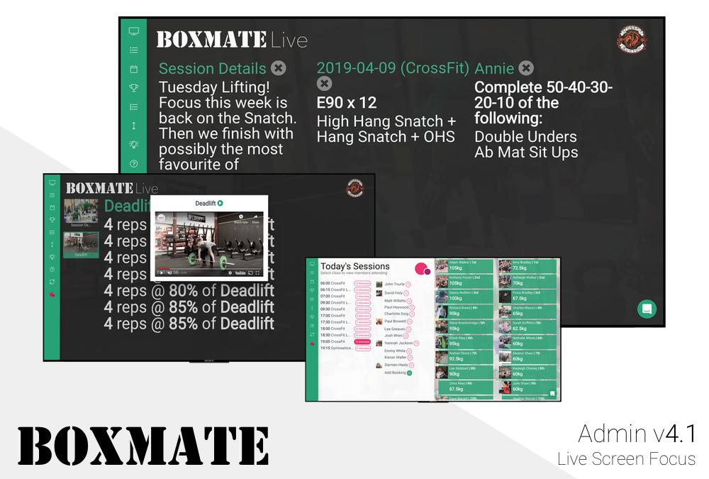 Admin v4.1 – Live Screen Focus