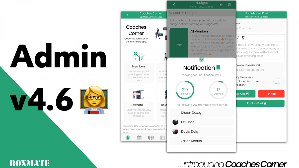 Admin v4.6 | Introducing Coaches' Corner
