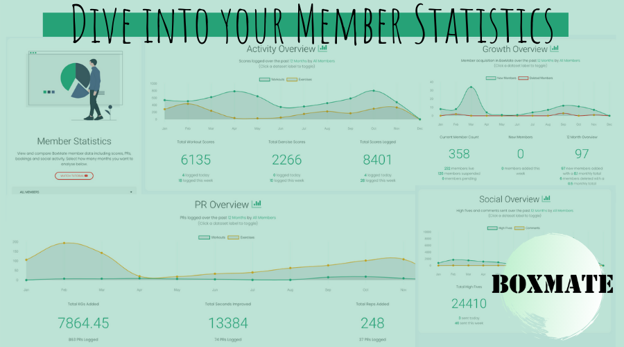 Dive in to Member Statistics with BoxMate!